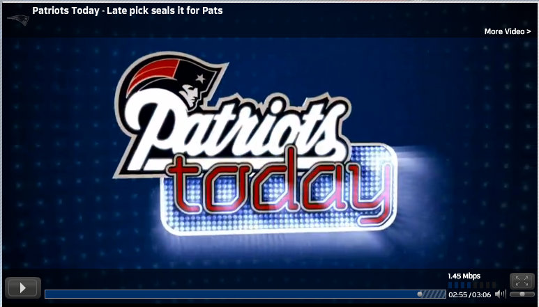 New England Patriots sports football video editor