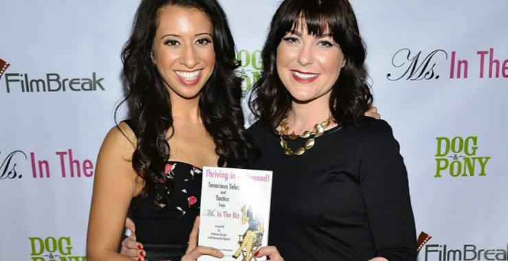 "Helenna Santos and her partner on ""Thriving In Hollywood!"" Alexandra Boylan, photo by Araya Diaz courtesy of WireImage"